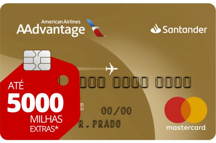 Cartão AAdvantage® Gold Santander